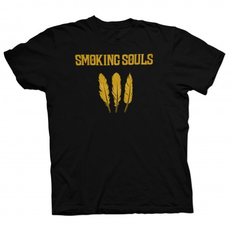 "Camiseta Unisex SMOKING SOULS ""Cendra i Or"" negra"