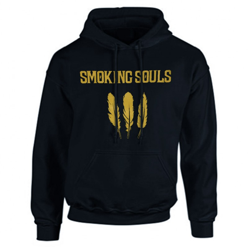 "Sudadera SMOKING SOULS ""Cendra i or"" negra"